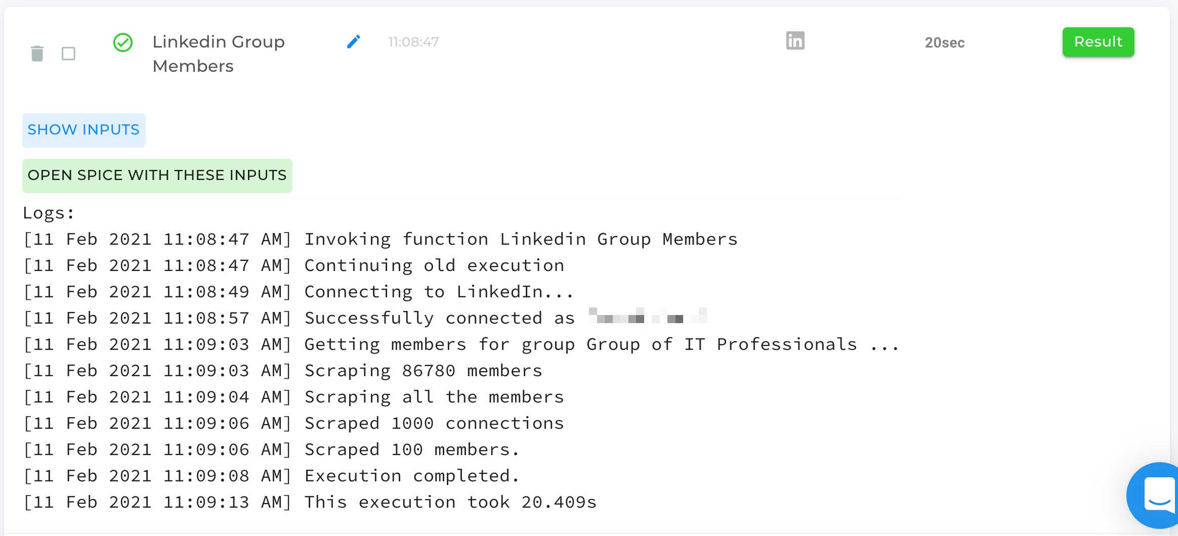LinkedIn Group Members Automation Completed