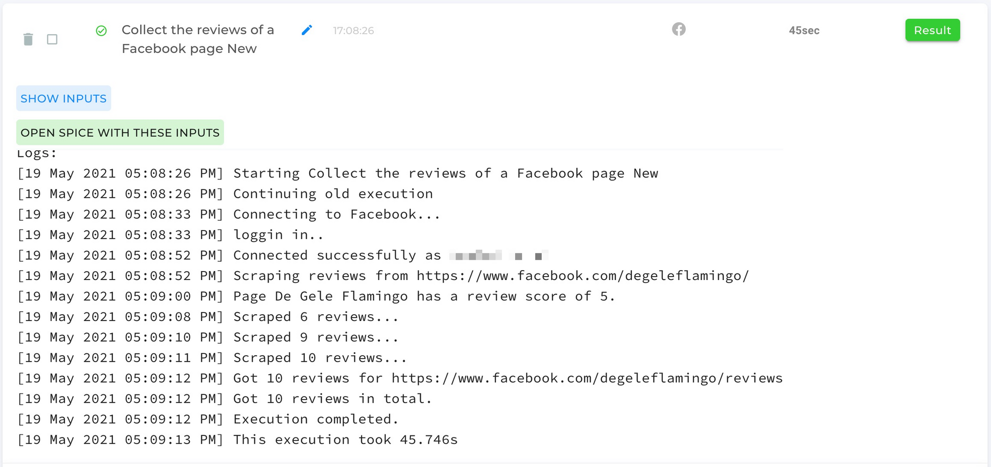 Collect-The-Reviews-Of-A-Facebook-Page-logs