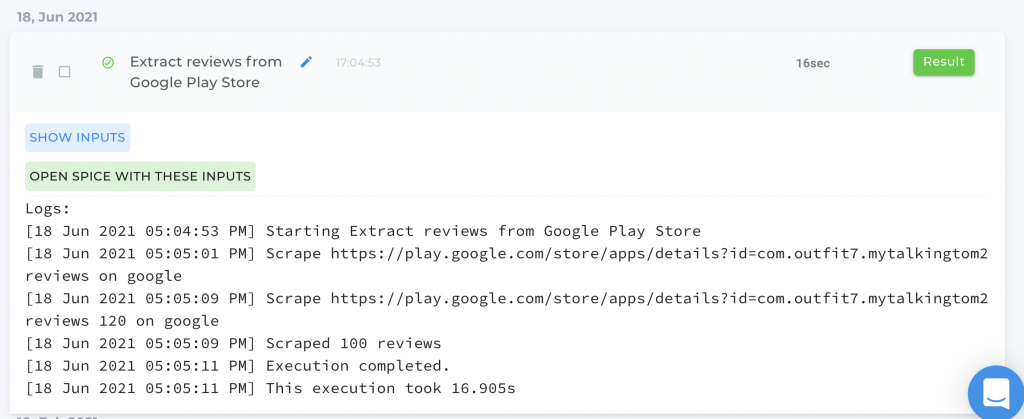 Get reviews from Google play store