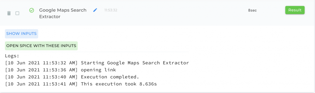 Extract listings from Google Maps