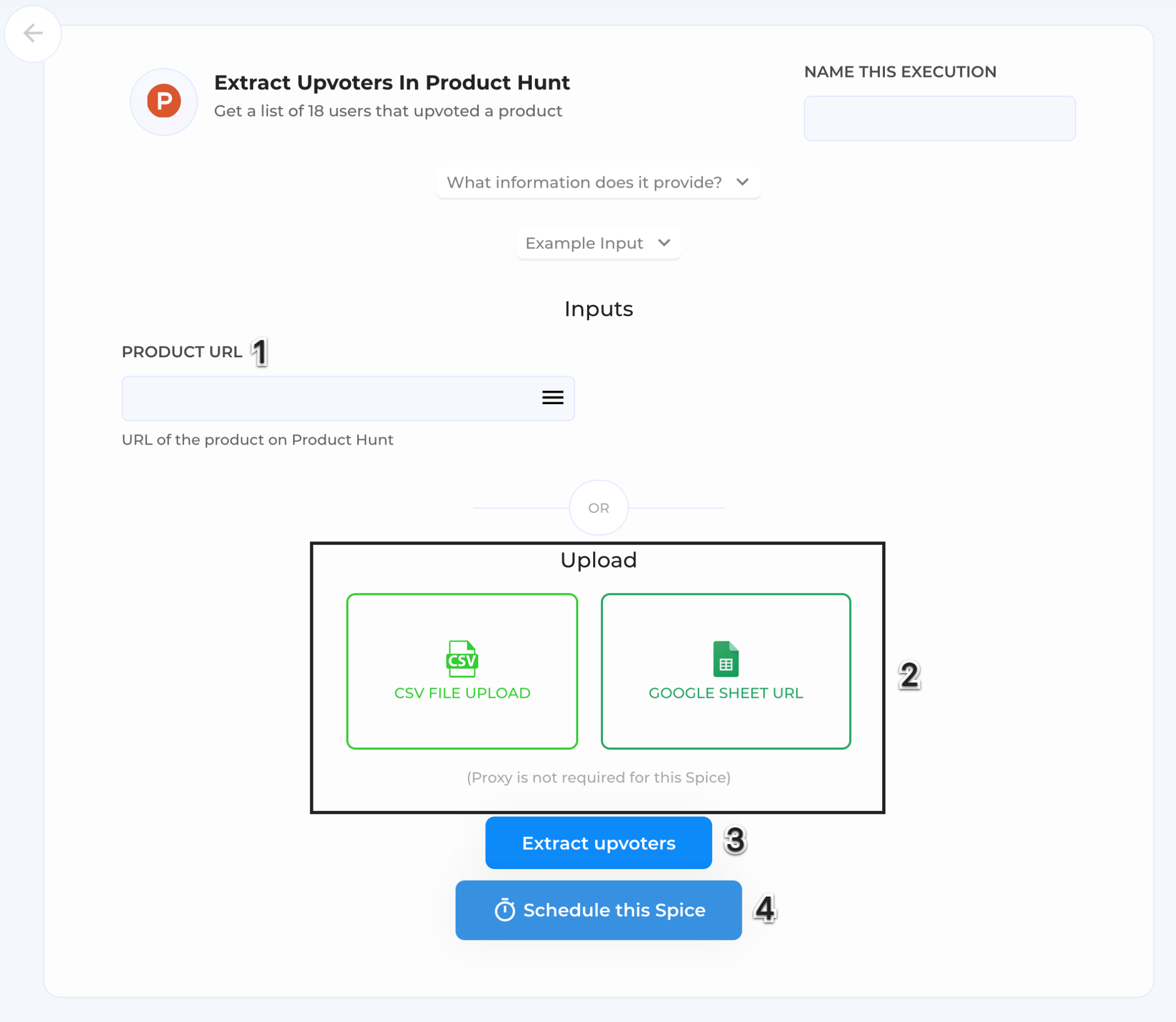 Extract-upvoters-in-Product-Hunt-Automation-page.