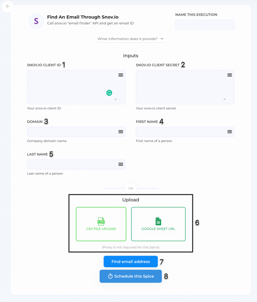 Find emails using Snov.io